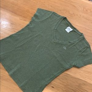 Lacoste Olive Army Green 🐊 T-shirt Size 12 Women